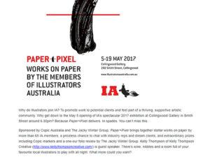Illustrators Australia exhibition promotion