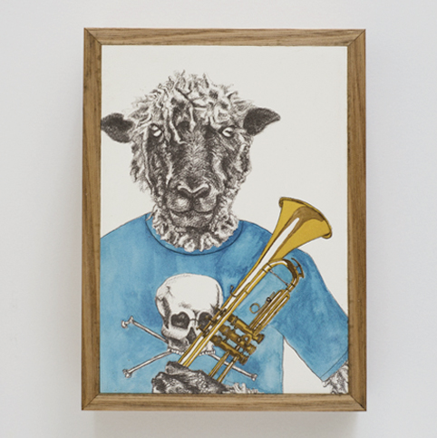 Kath Dolan artwork-Animal Band series